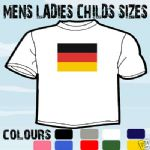 GERMANY GERMAN FLAG EMBLEM T-SHIRT ALL SIZES & COLOURS